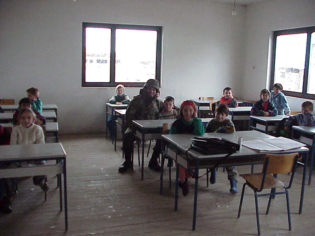 Kosovo school that was sponsored by the 709th MP Battalion